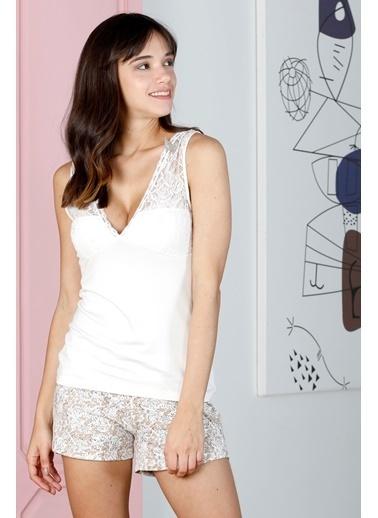 Hays Sensible Kadın Şortlu Pijama Takımı Ekru
